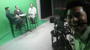 Sovanna Pouv, CMAA Executive Director, filming our interview!