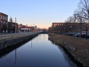 Canal in Lowell, MA