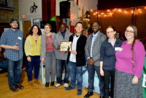 RISE Coalition receives their award, photo by Britt Boughner